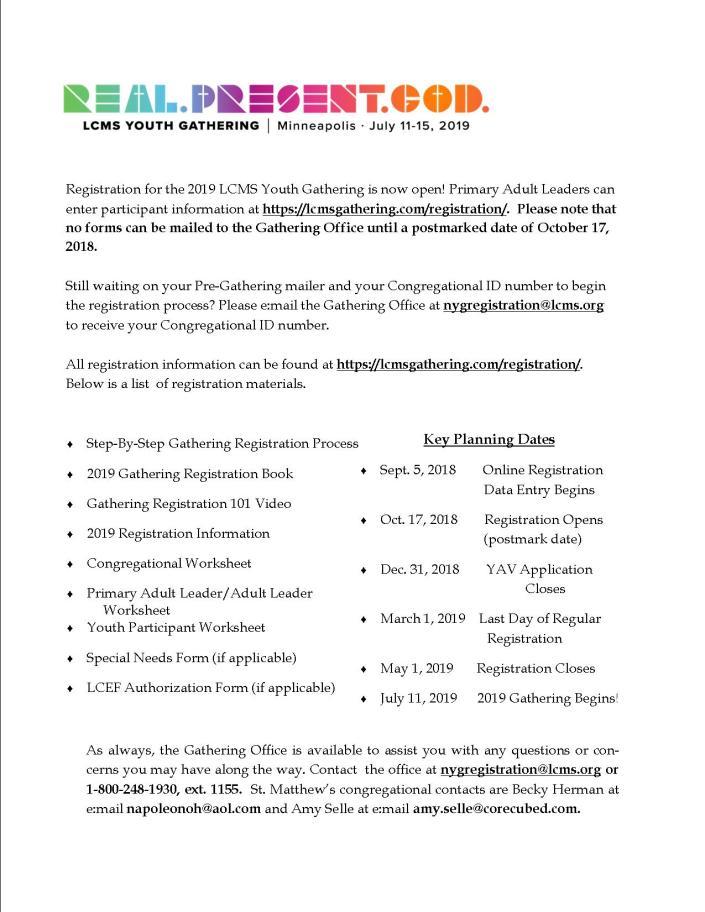 NYG 2019 Information